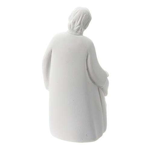 Sacra Famiglia stile classico resina bianca 5 cm 2