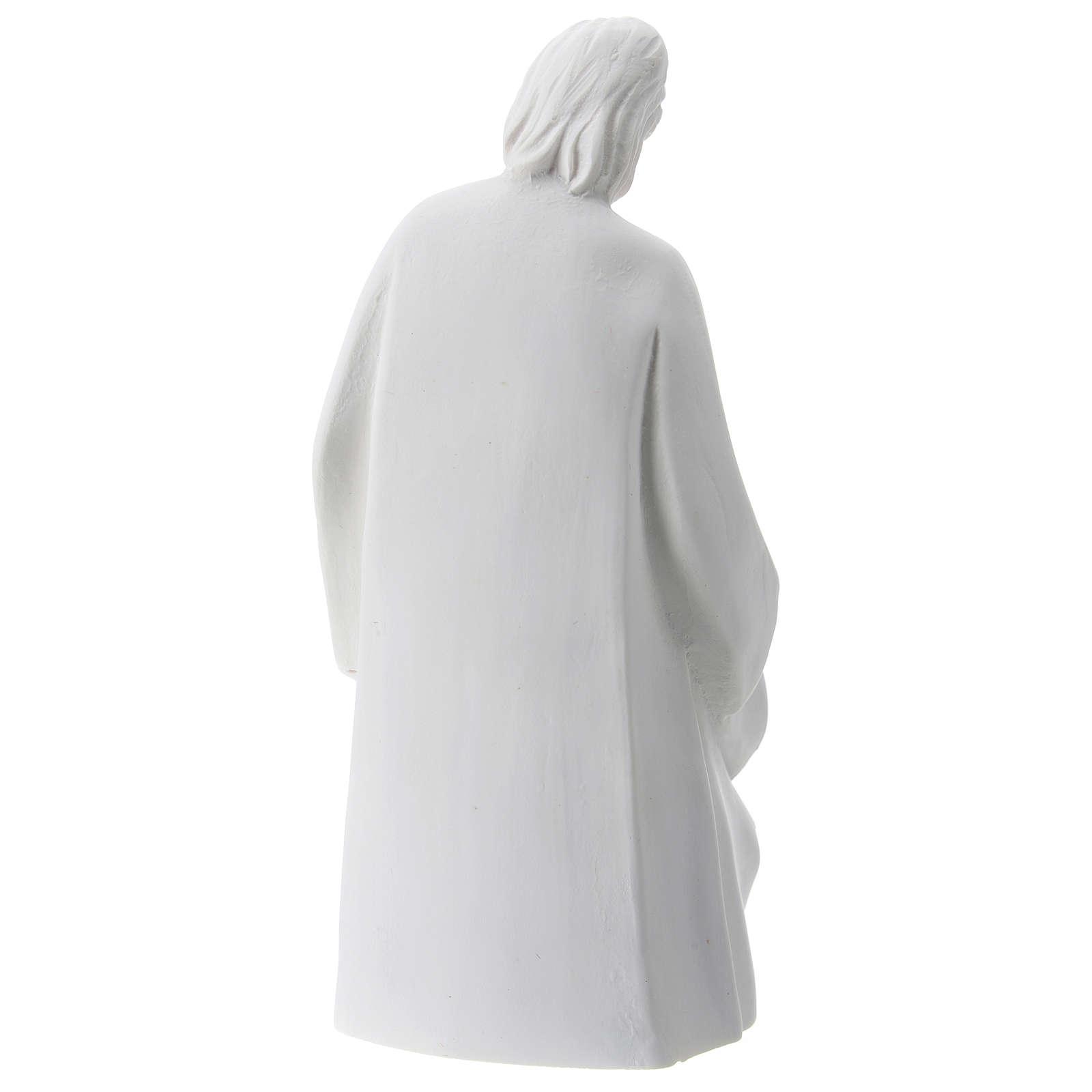 Composición Natividad resina blanca 10 cm 3