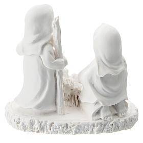 Composizione statue bambini resina bianca 5 cm s3