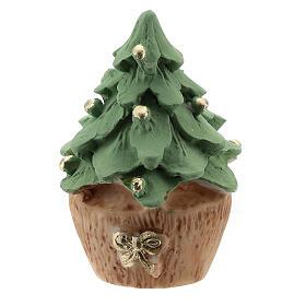 Árbol Navidad resina con Natividad metal 5 cm s4