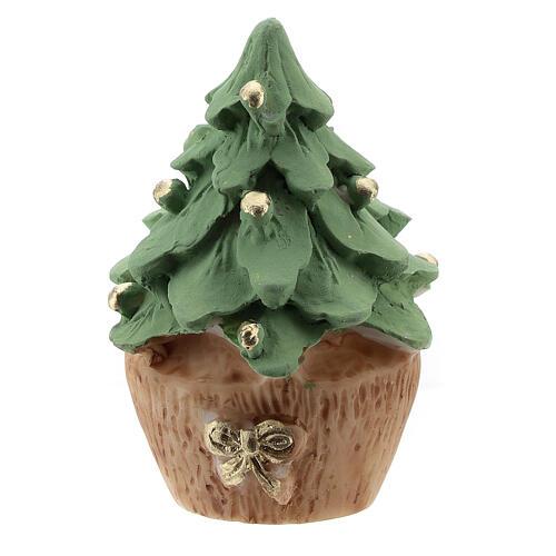 Albero Natale resina con Natività metallo 5 cm 4
