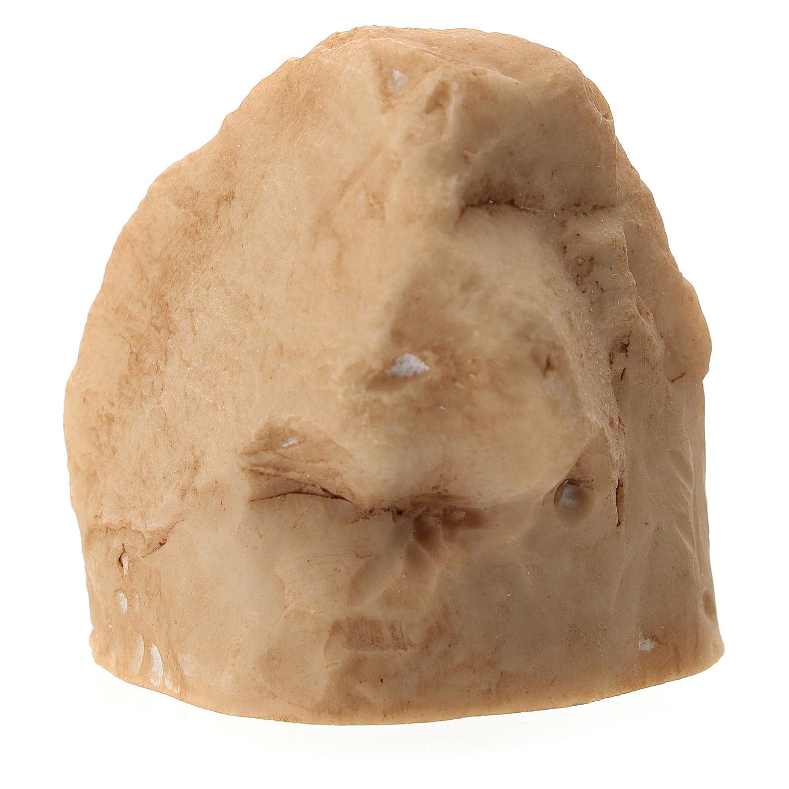 Roccia con Natività metallo in nicchia 5 cm 3