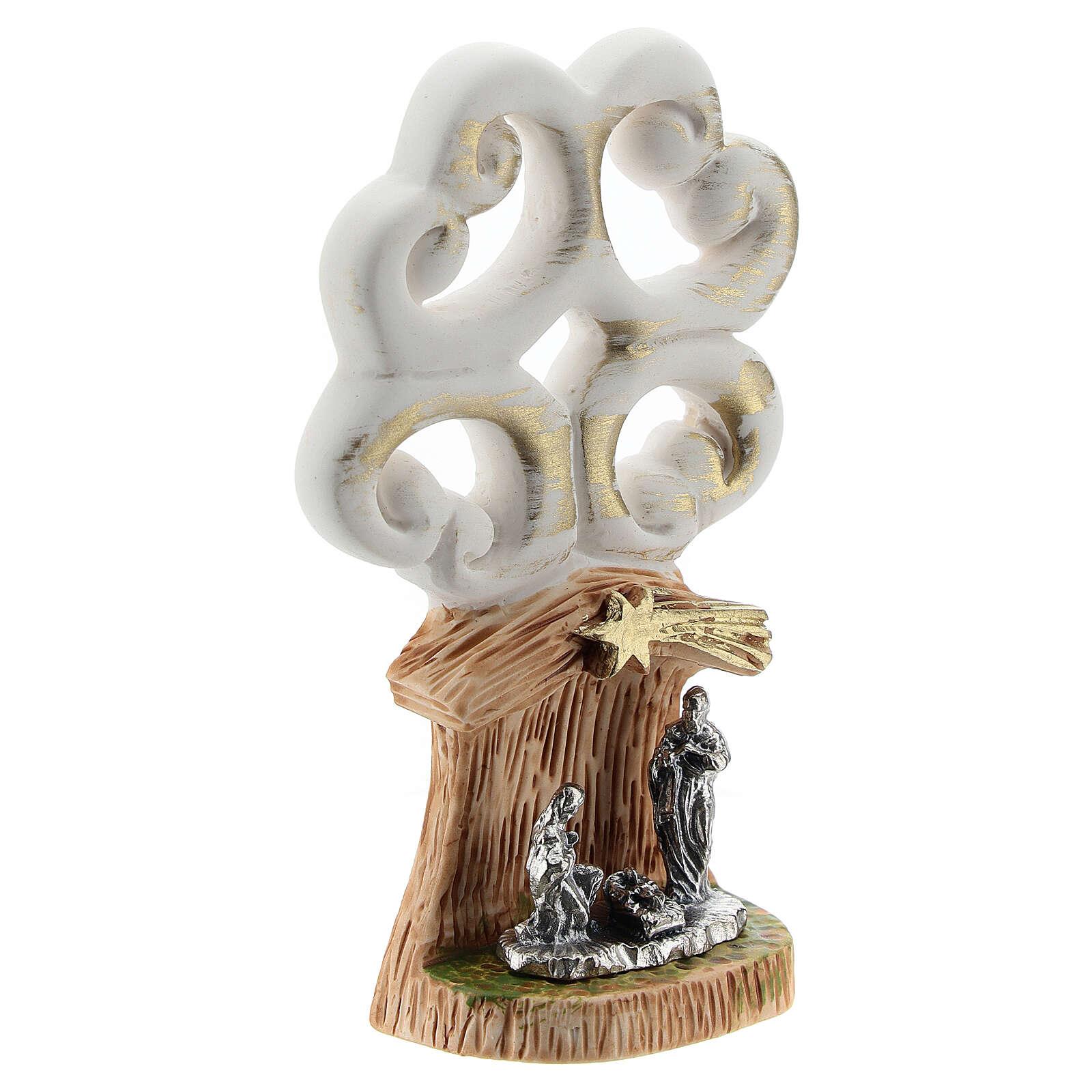 Árbol de la Vida con Natividad metal 10 cm 3