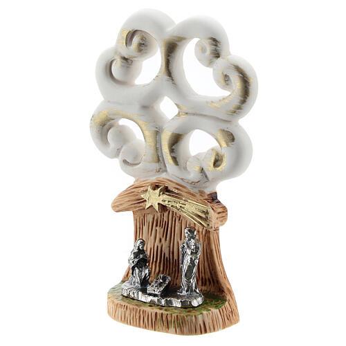 Árbol de la Vida con Natividad metal 10 cm 2