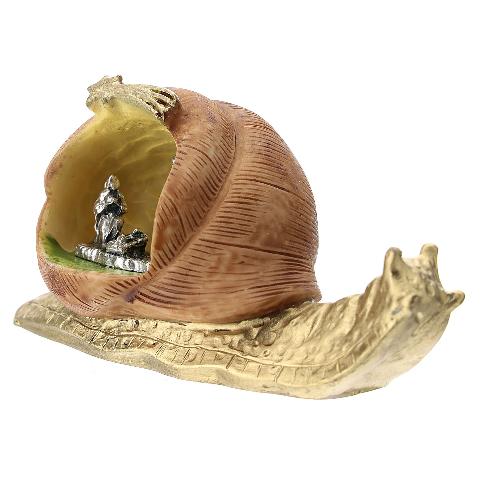 Snail in resin with metal Nativity 5 cm 3