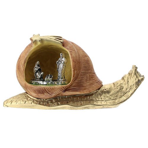 Snail in resin with metal Nativity 5 cm 1