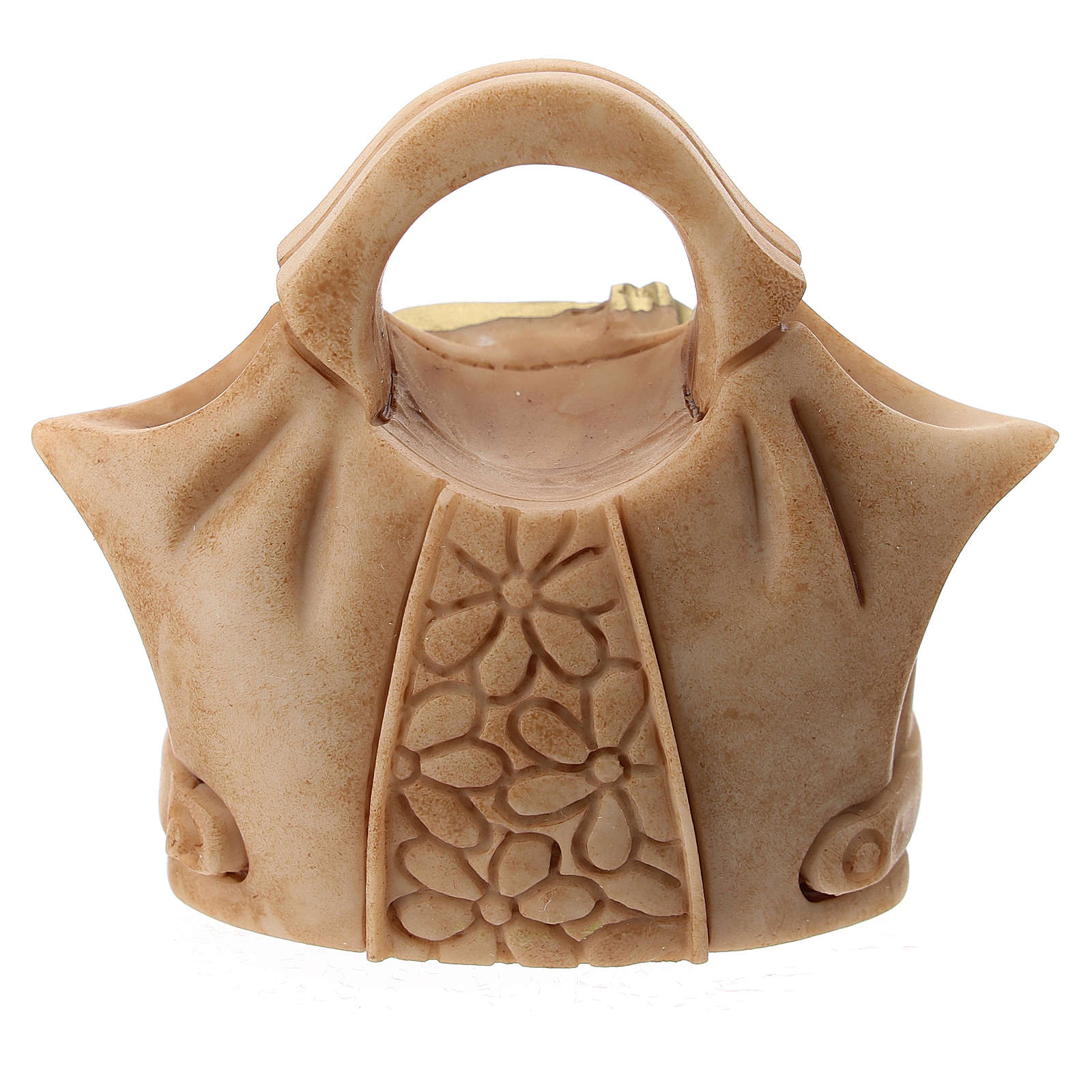 Resin handbag with Holy Family 5 cm 3
