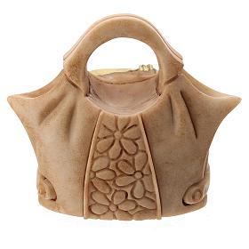 Resin handbag with Holy Family 5 cm s3