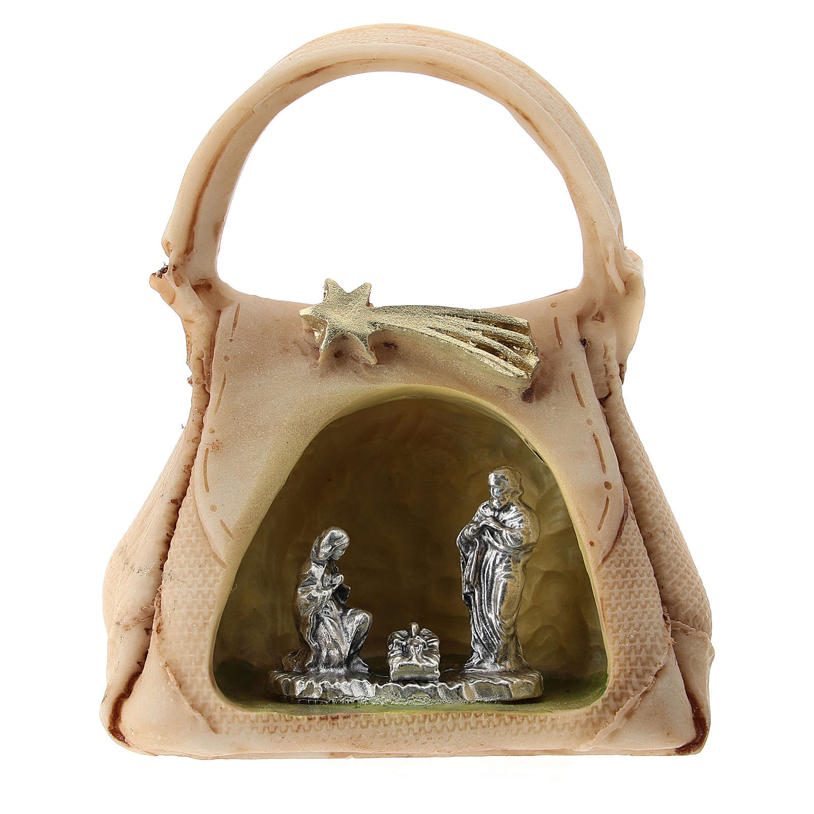 Resin handbag with Holy Family 5 cm 3