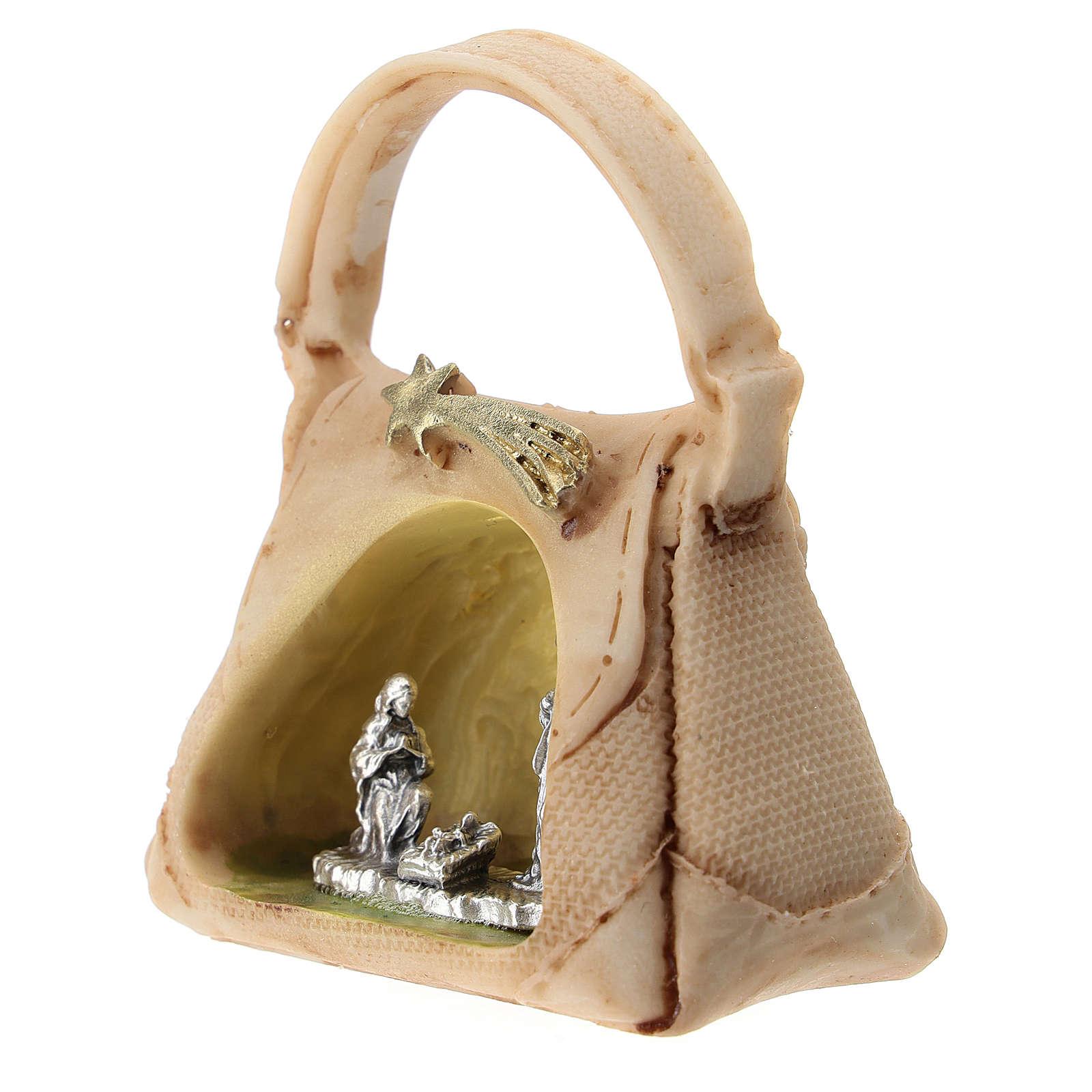 Sacra Famiglia in metallo in borsetta 5 cm 3