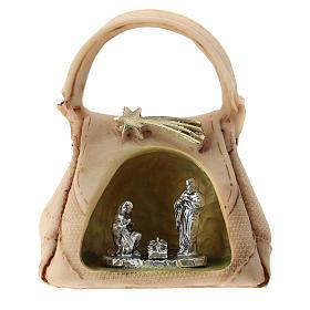 Sacra Famiglia in metallo in borsetta 5 cm s1