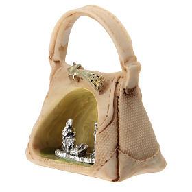 Sacra Famiglia in metallo in borsetta 5 cm s2