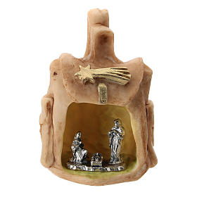 Resin backpack with metal Nativity 5 cm s1