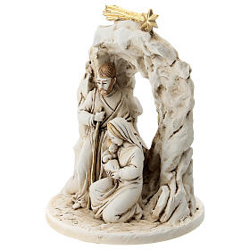 Nativity in resin with cave 10 cm s2