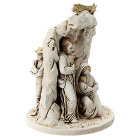 Nativity in resin with cave 10 cm s3