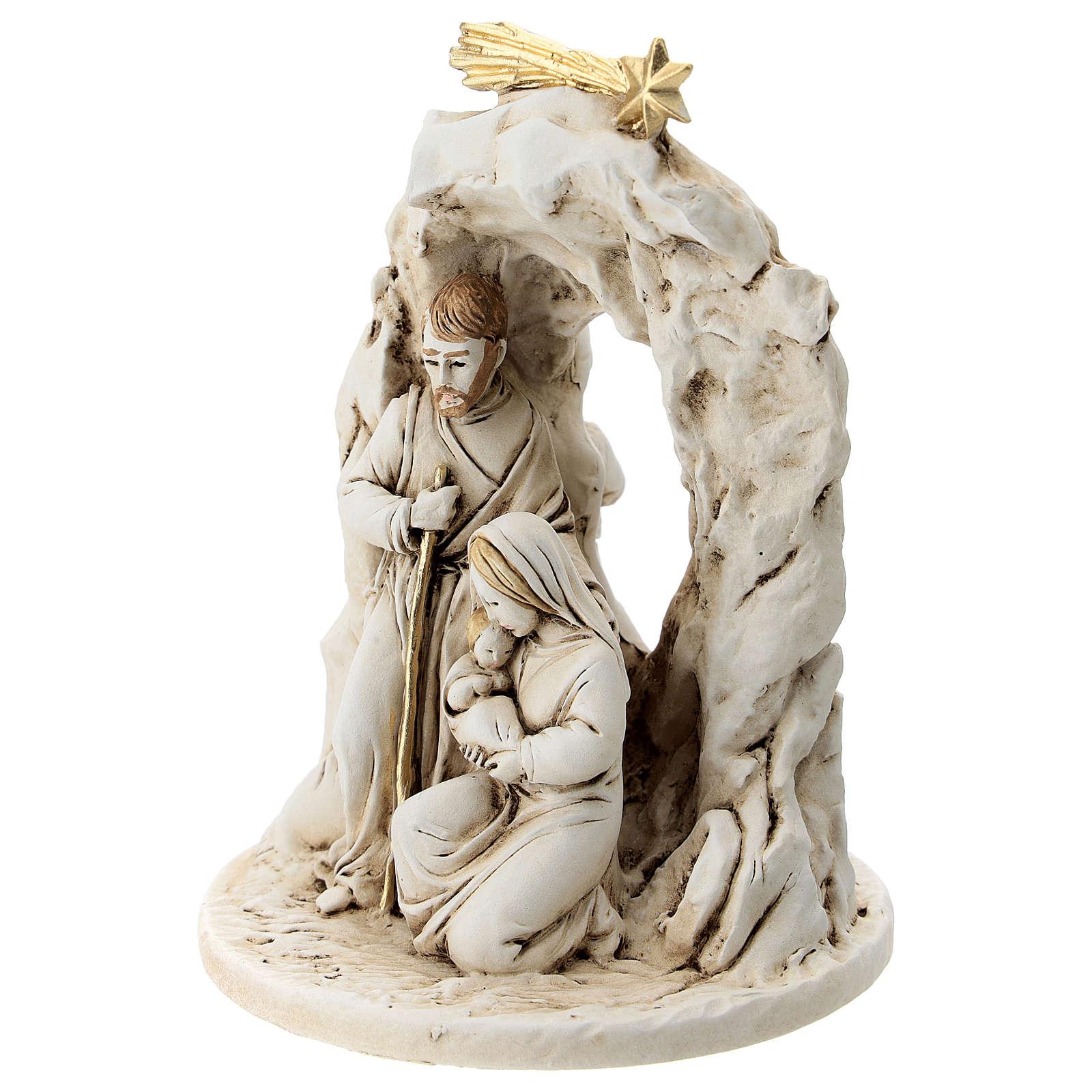 Natividad con cueva resina 10 cm 3