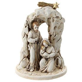 Natividad con cueva resina 10 cm s1