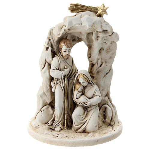 Natividad con cueva resina 10 cm 1