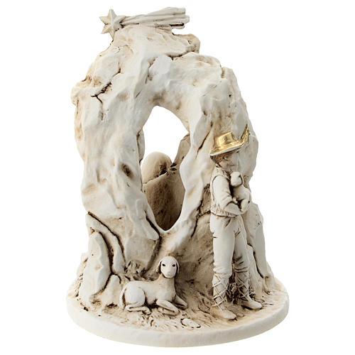 Natividad con cueva resina 10 cm 5