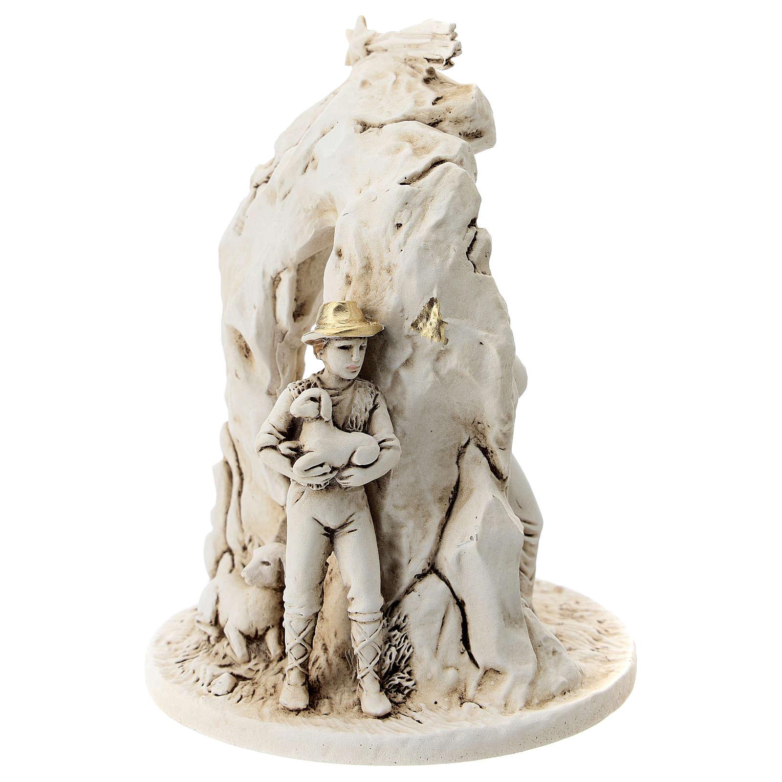 Natività con grotta resina 10 cm 3