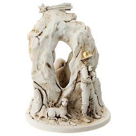 Natività con grotta resina 10 cm s5