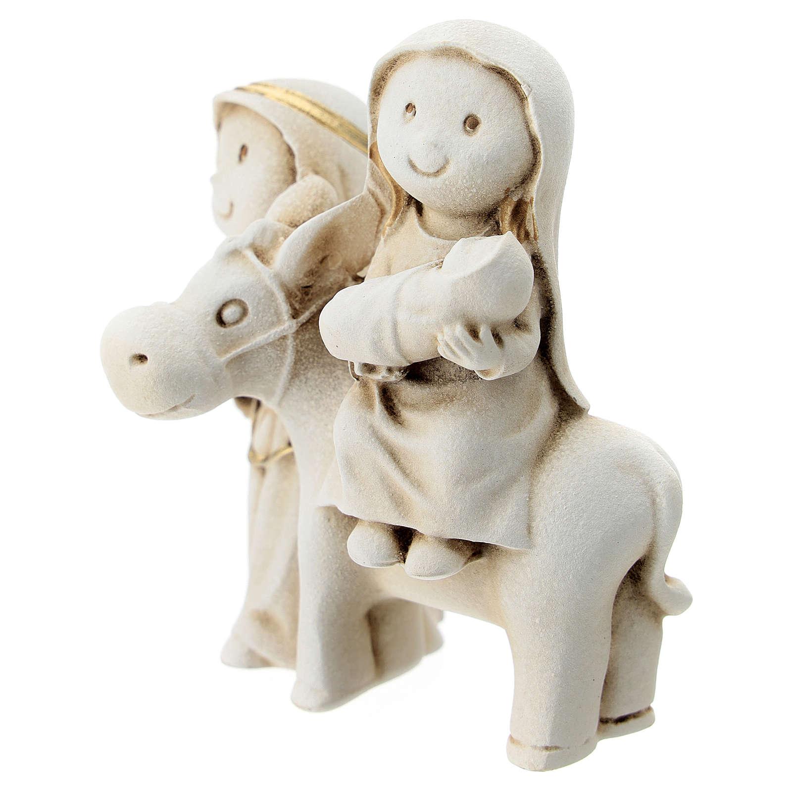 Natividad estilo árabe con burro resina 10 cm 3