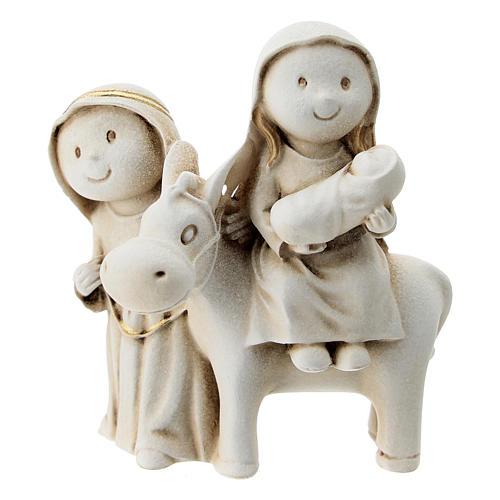 Natividad estilo árabe con burro resina 10 cm 1