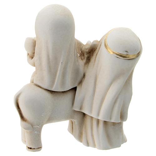 Natividad estilo árabe con burro resina 10 cm 4