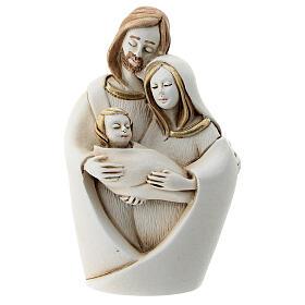 Holy Family hug in resin 10 cm s1