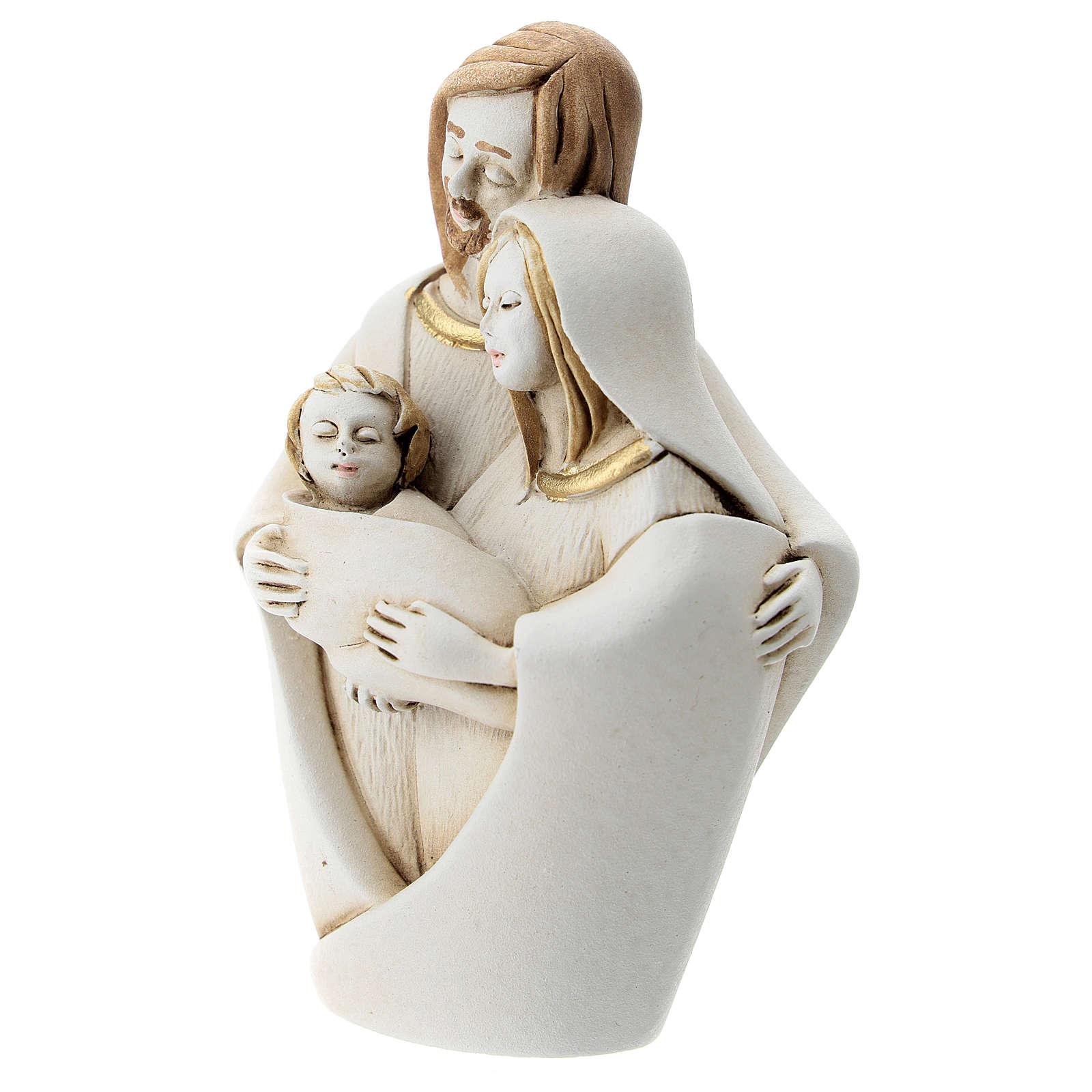 Natività raccolta in abbraccio resina 10 cm 3
