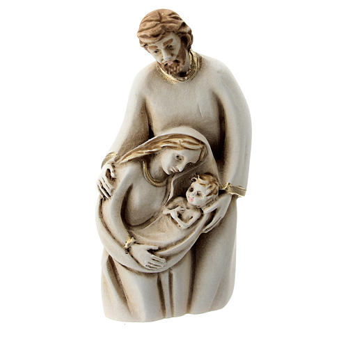 Sainte Famille résine peinte à la main 10 cm 1