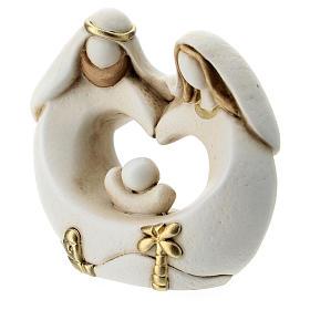 Sacra Famiglia stile arabo cuore resina 5 cm s2