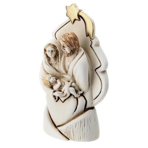 Albero con Sacra Famiglia resina 10 cm 2