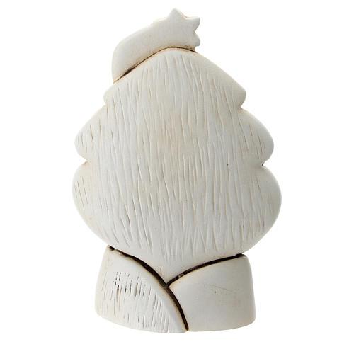 Albero con Sacra Famiglia resina 10 cm 3