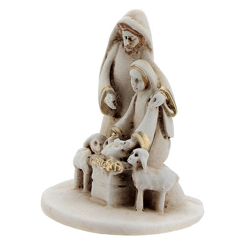 Natividad con ovejas estilo árabe resina 5 cm 2
