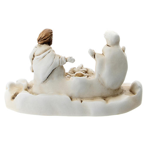 Natividad con base ovalada resina 5 cm 3
