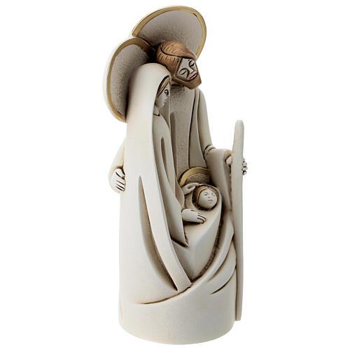 Holy Family in resin, modern style 20 cm 3