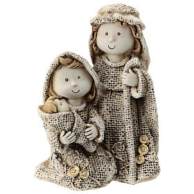 Holy Family for children's line with jute effect clothes 15 cm s1