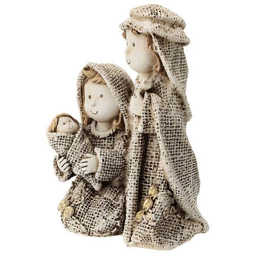 Holy Family for children's line with jute effect clothes 15 cm 2