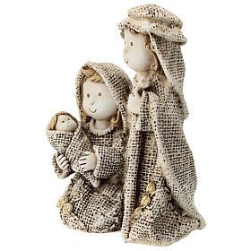 Sacra Famiglia linea bambino abiti effetto juta 15 cm s2