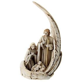 Natividad con ala matices dorados resina 15 cm s1