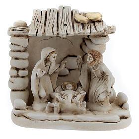Composición Natividad cabaña resina 10 cm s1