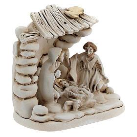 Composición Natividad cabaña resina 10 cm s3