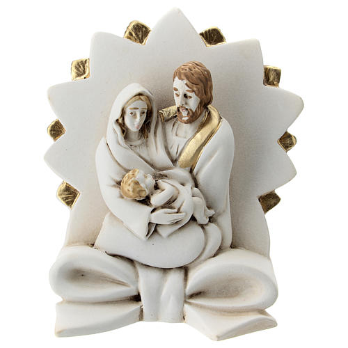 Natividad con moño y estrella resina 10 cm 1