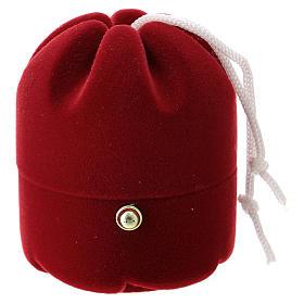 Cofre con natividad dulce navideño terciopelo rojo s3