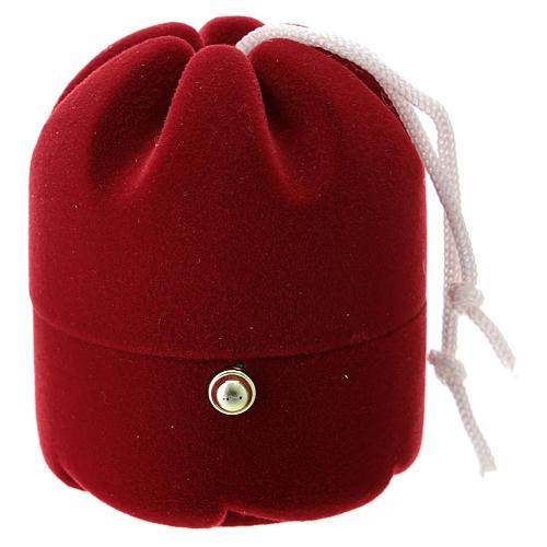 Cofre con natividad dulce navideño terciopelo rojo 3