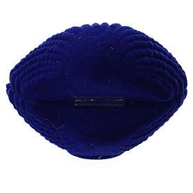 Coffret nativité velours bleu en coquillage s3