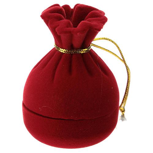Saco cofre con natividad terciopelo rojo 3