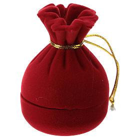 Sacchetto a cofanetto con natività velluto rosso s3