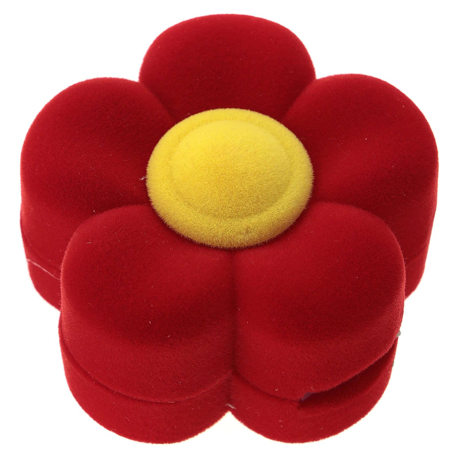 Cofre margarita con natividad terciopelo rojo 3